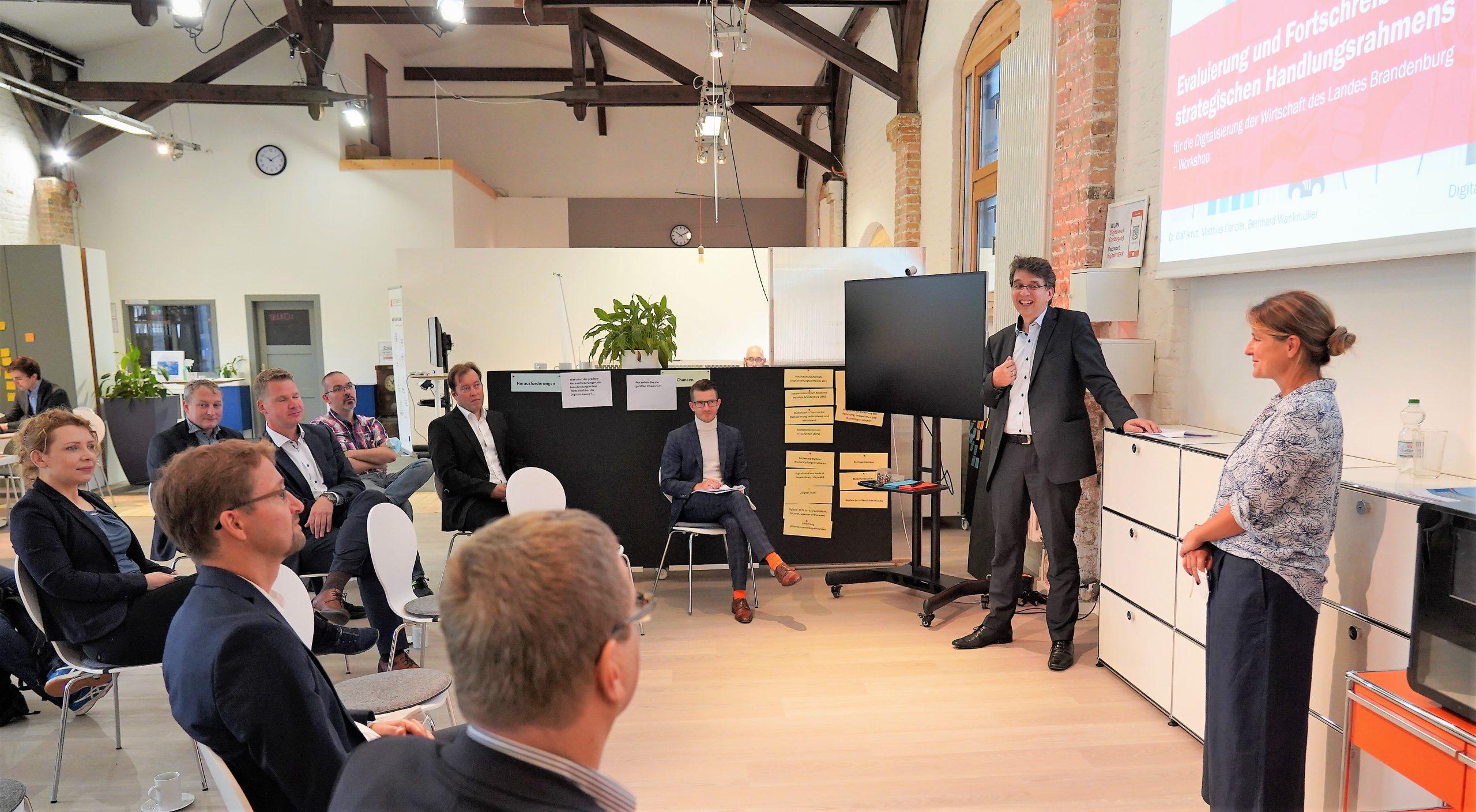 Workshop für Digitalisierung der Wirtschaft im Digitalwerk